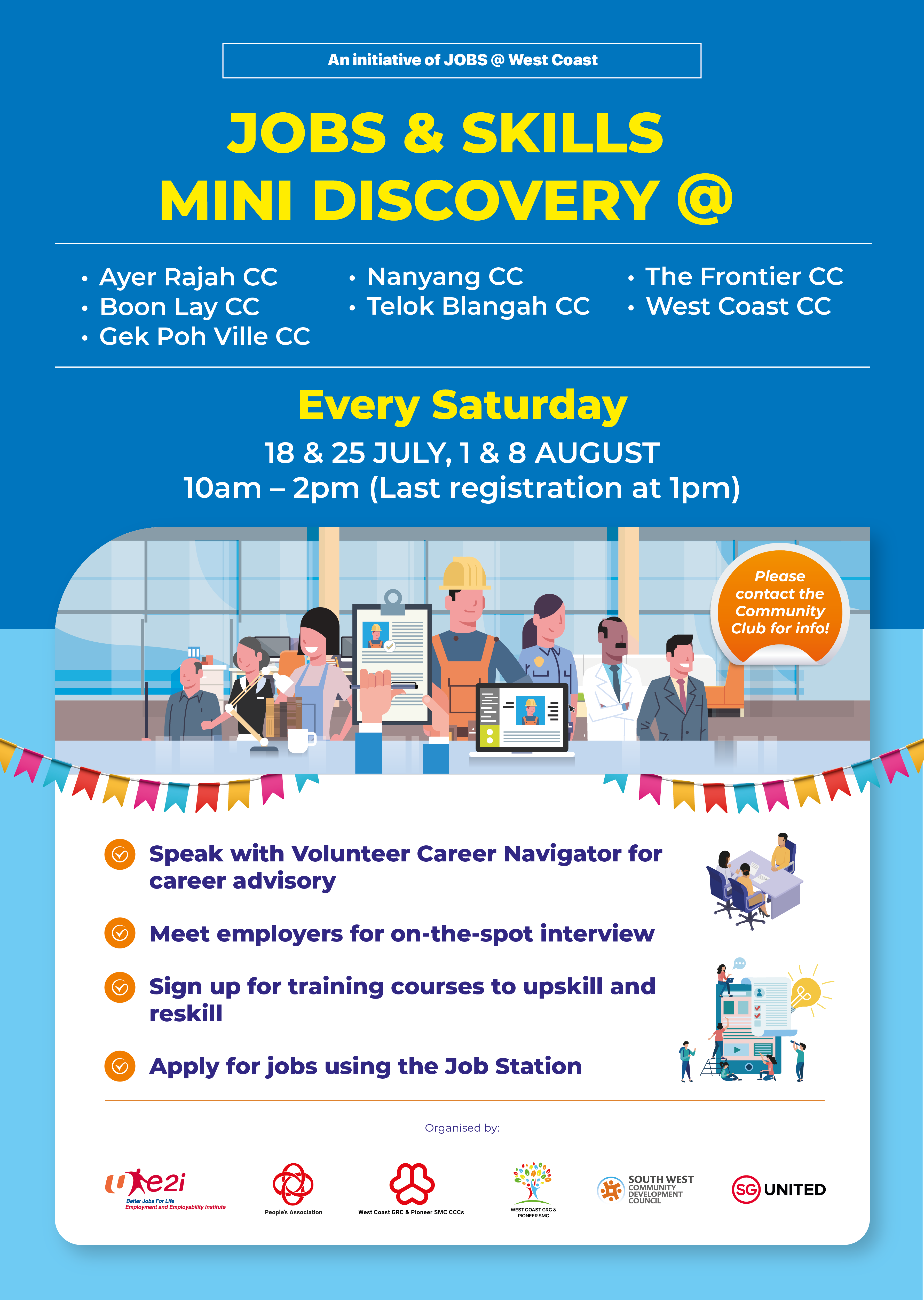 JOBS at West Coast Jobs and Skills Mini Discovery 1 and 8 August 2020