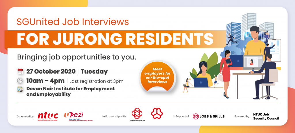 SGUnited Job Interviews for Jurong Residents (27 Oct 2020)