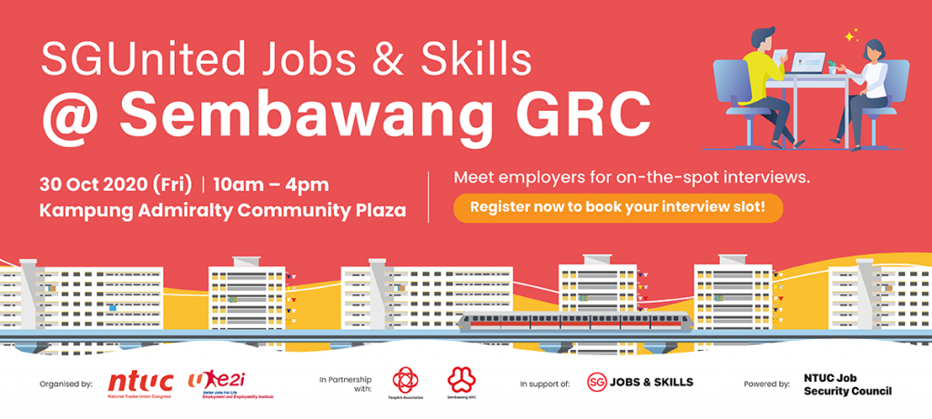 SGUnited Jobs & Skills @ Sembawang GRC (30 Oct 2020)